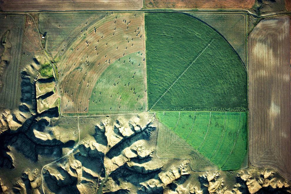 Еще одна фотография бомбардировщиков В-52 на кладбище самолетов в Тусоне, штат Аризона, США: