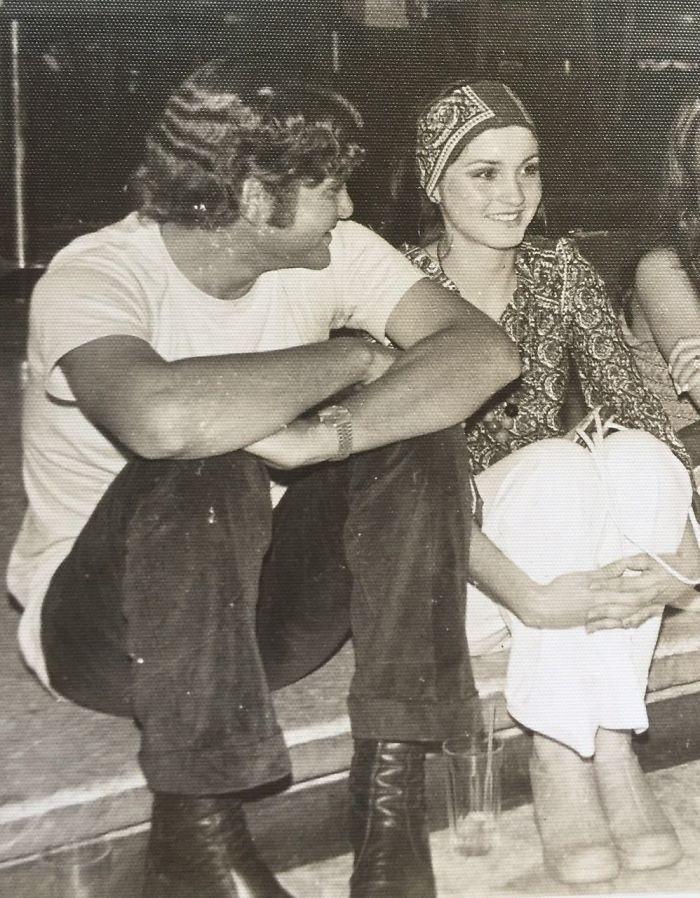 «Мои родители в 1976 году».