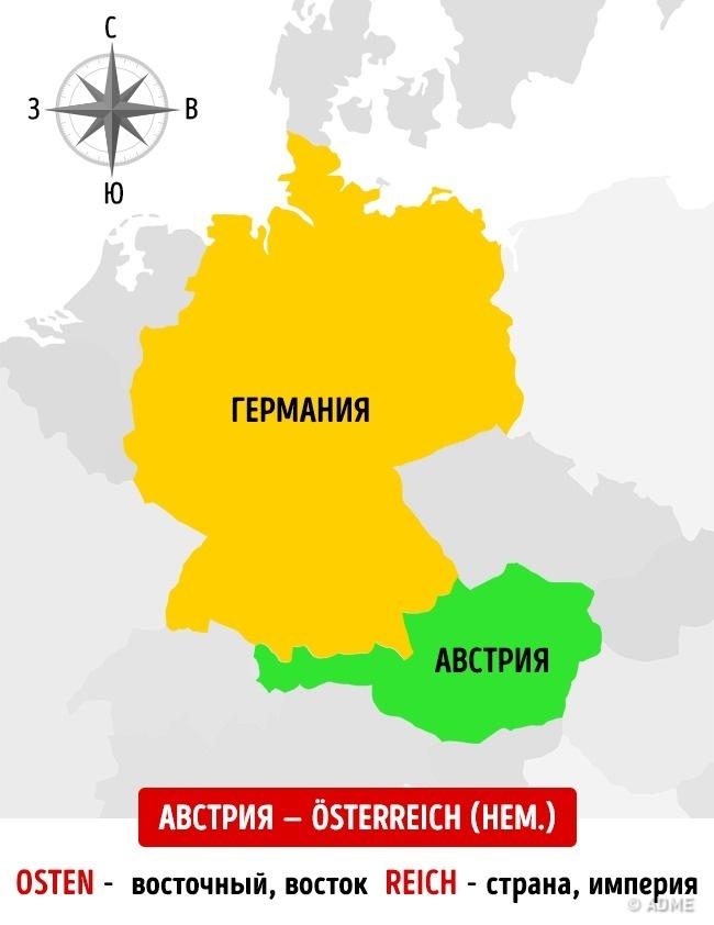 Почему уАвстрии иАвстралии такие похожие названия? (2 фото)