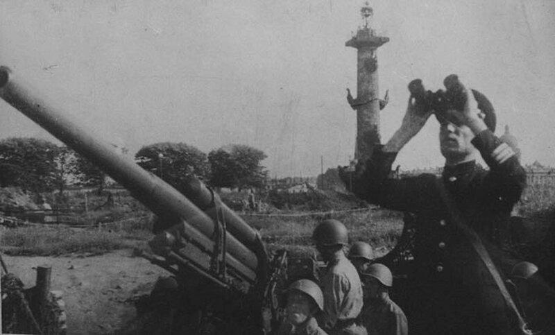 Зенитная батарея на Стрелке Васильевского острова