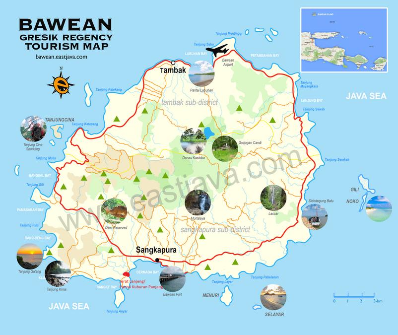Bawean map
