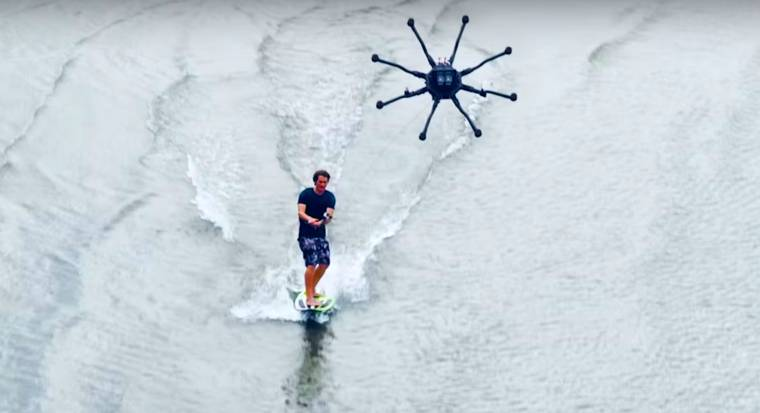 Drone Surfing - Surfing using a drone