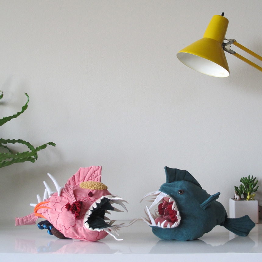 Morris: A Reversible Stuffed Anglerfish Toy Helps Teach Anatomy