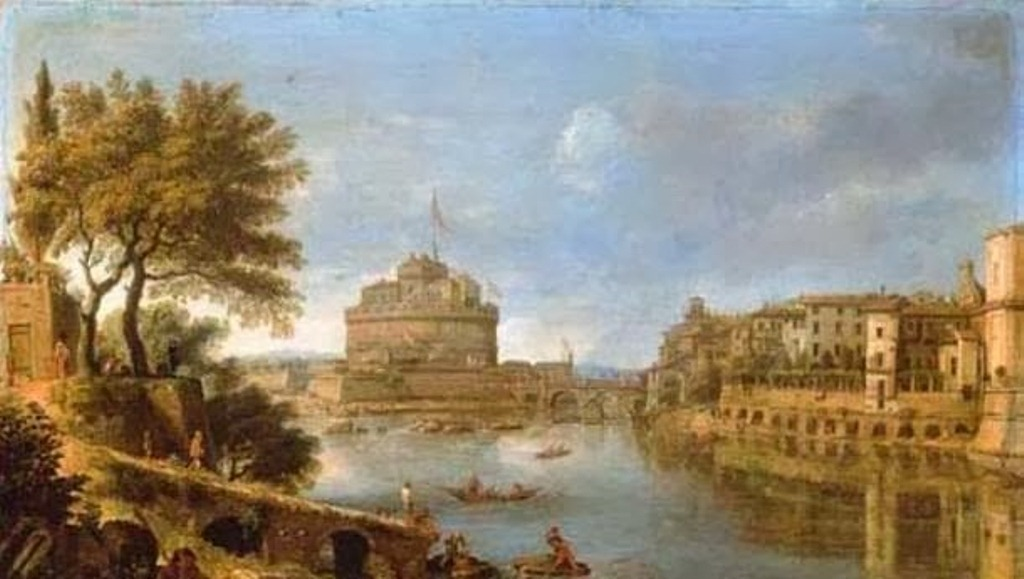 3 Rome-A-view-of-the-Tiber,-with-the-Castel-Sant'Angelo-and-of-San-Giovanni-dei-Fiorentini-by-Caspar-Andriaans-Van-Wittel.jpg