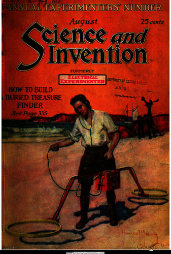 Science & Invention: 1921 August - - Book Cover