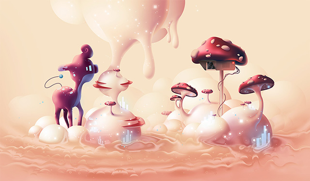 Clouds, Gradients And Droplets by Aaron Campbell