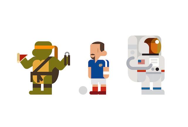 EveryHey - Ilustracoes minimalistas de personagens da cultura pop