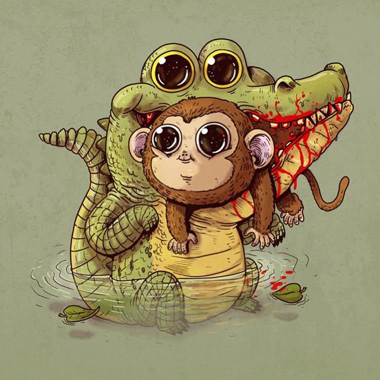 The cute predators and prey of Alex Solis