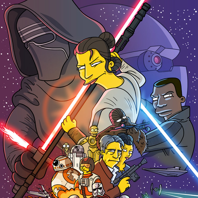 Simpsonized - Transforming cult movies and series into Simpsons characters