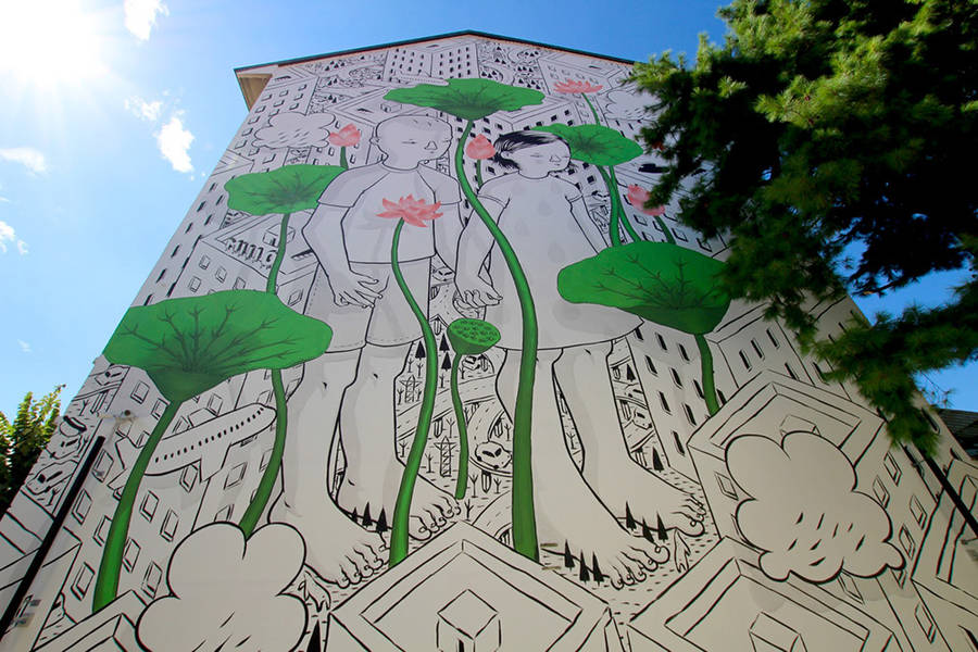New Painted Mural in Italy by Millo