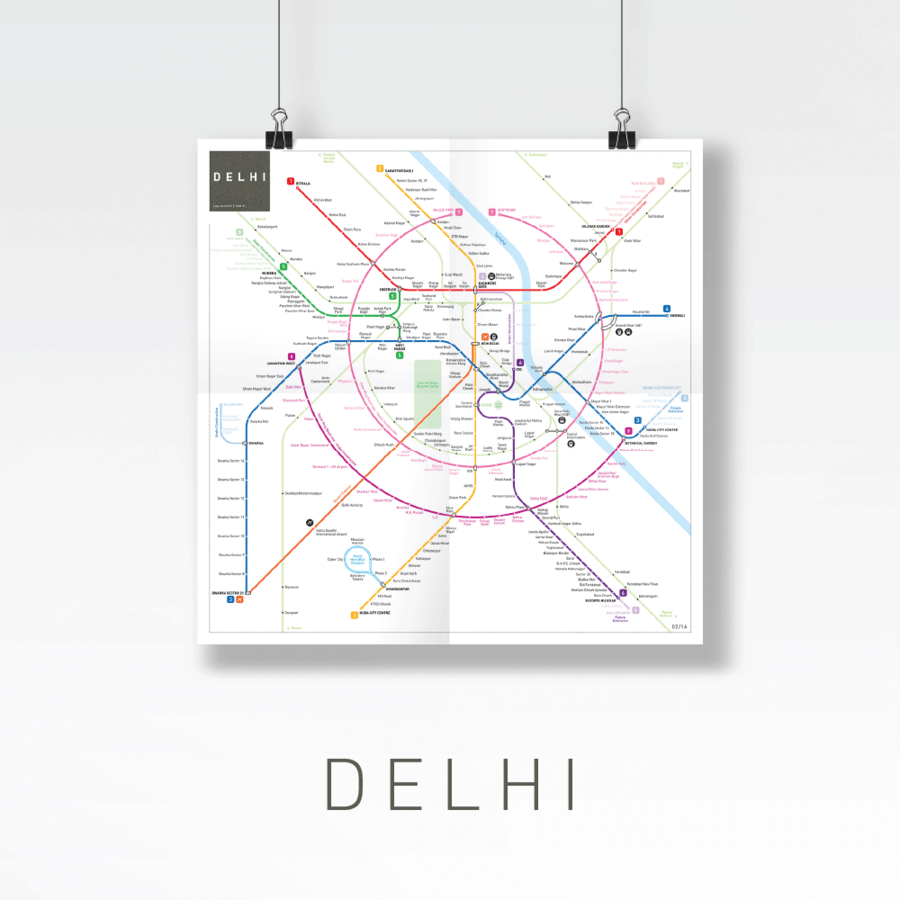 Efficient and Beautiful Metro Maps of World's Main Cities