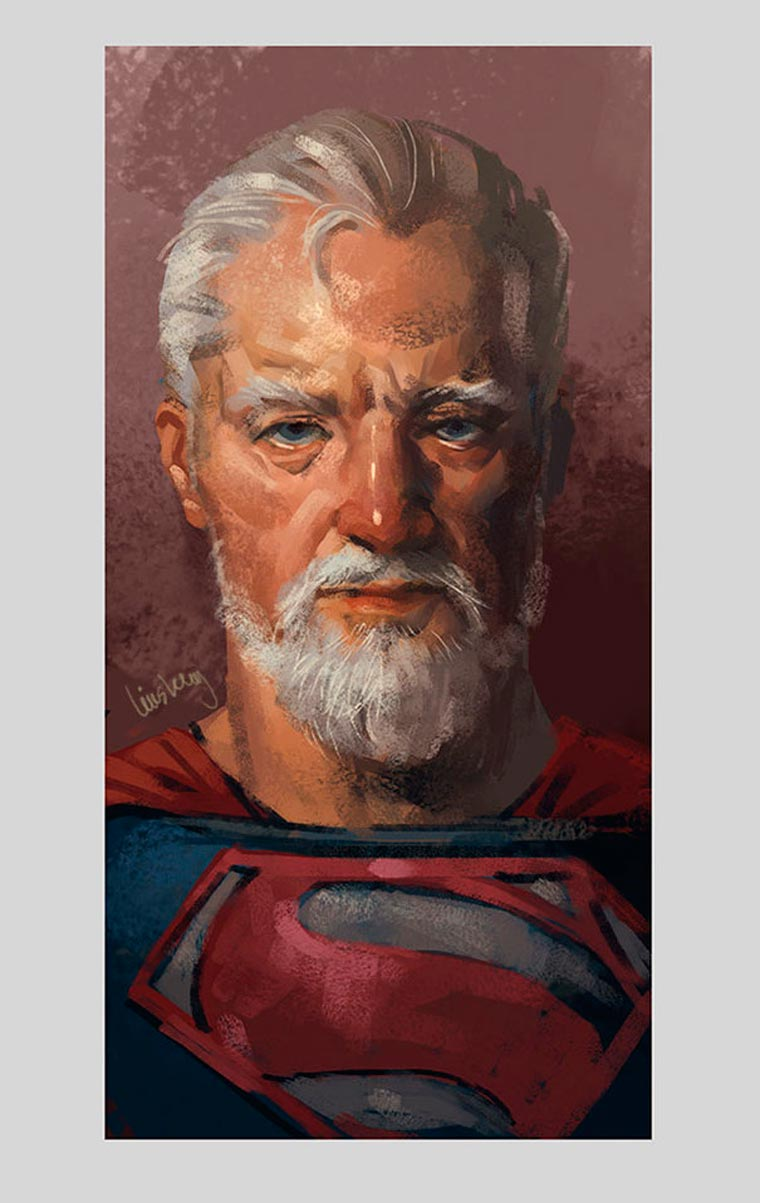 When famous superheroes grow old