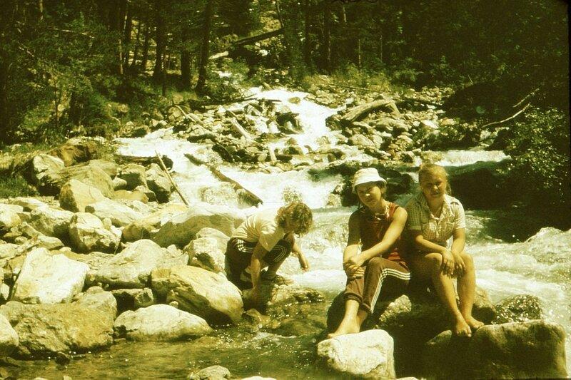 Ретро-фото туристическое, молодость 80-х, 90-х годов