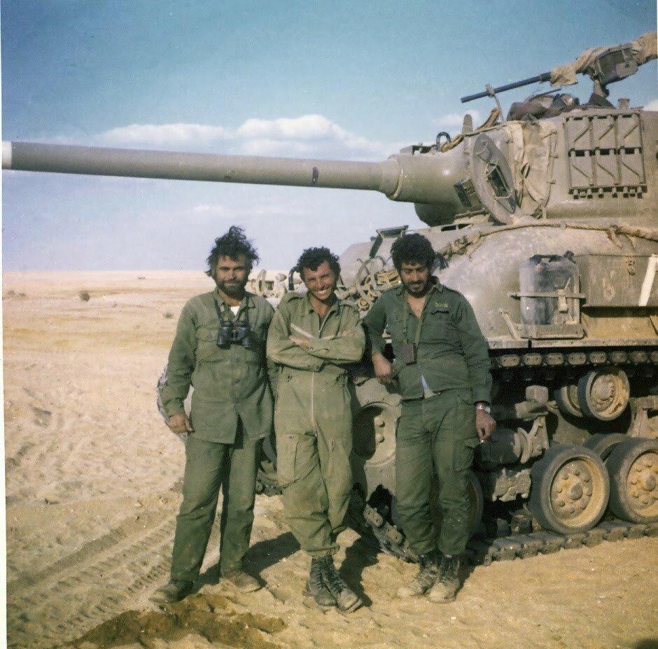 Израильский экипаж танка. Синай