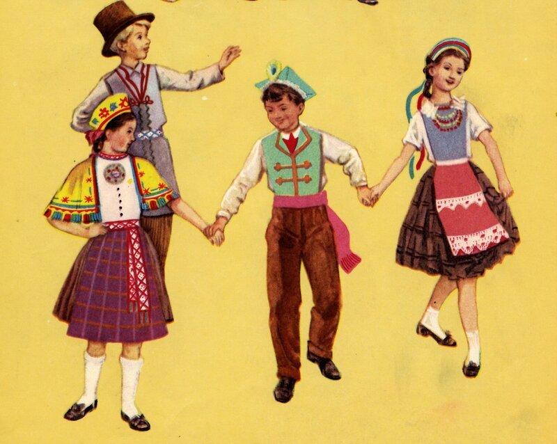 Латвийские и польские костюмы