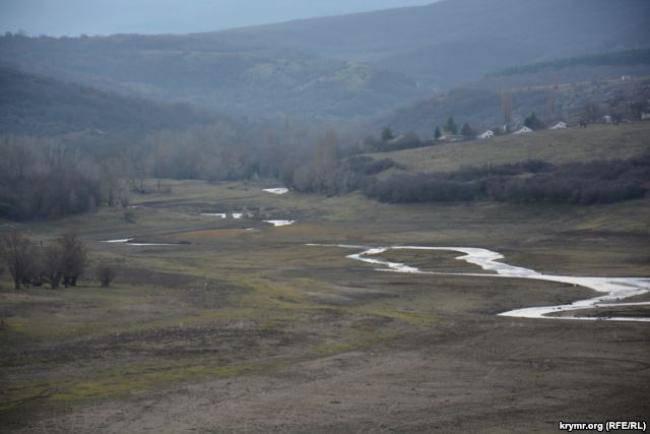 Основные водохранилища оккупированного Крыма заполнены на 10% от проектного объема