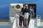 Трампы во время визита президента во Флориду, самолет президента.png