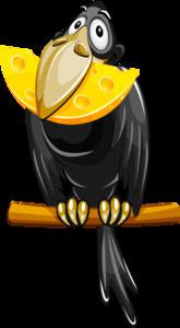 ворона с сыром