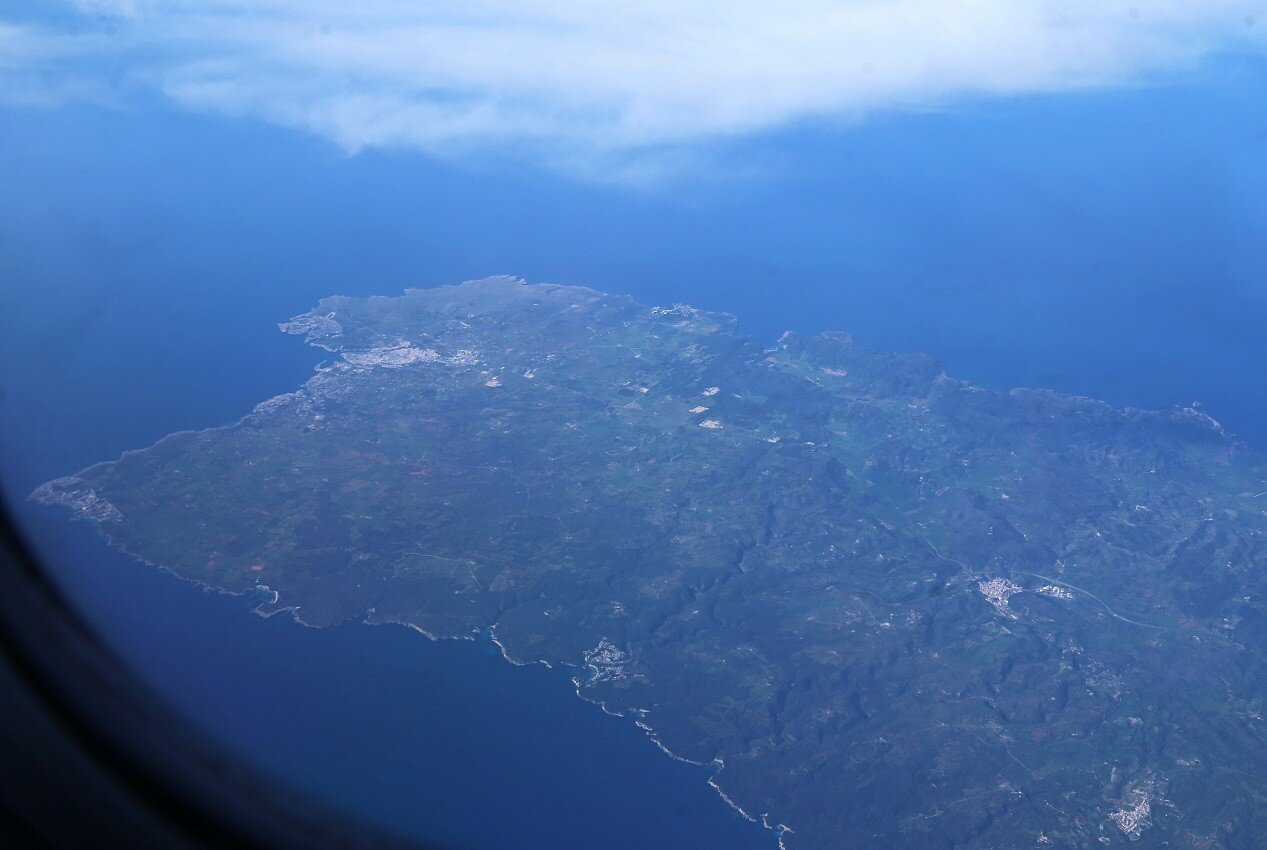 The Western tip of Minorca. Aerial view