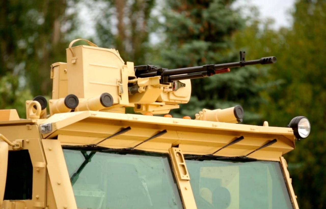 Размещение самоходной артиллерийской установки (а