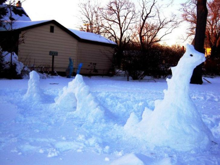 Лох-несский снеговик.
