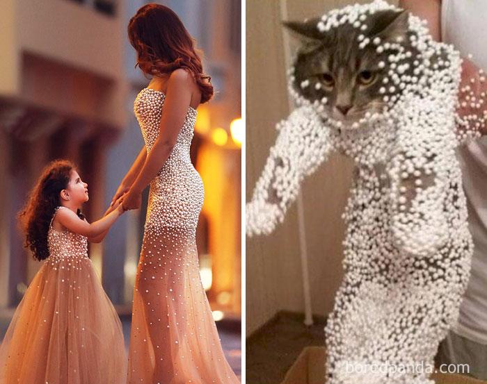 Мама с дочкой или эта кошка?