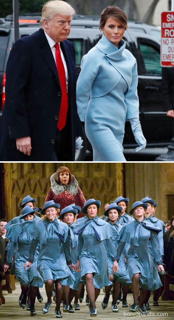 Мелания Трамп или ученицы школы волшебства Шармбатон в «Гарри Поттере»? Или и вовсе Жаклин Кеннеди ?