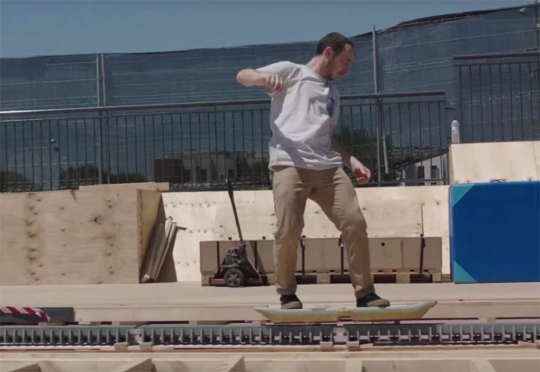 Hoverboard in action - The truth about the flying skateboard by Lexus