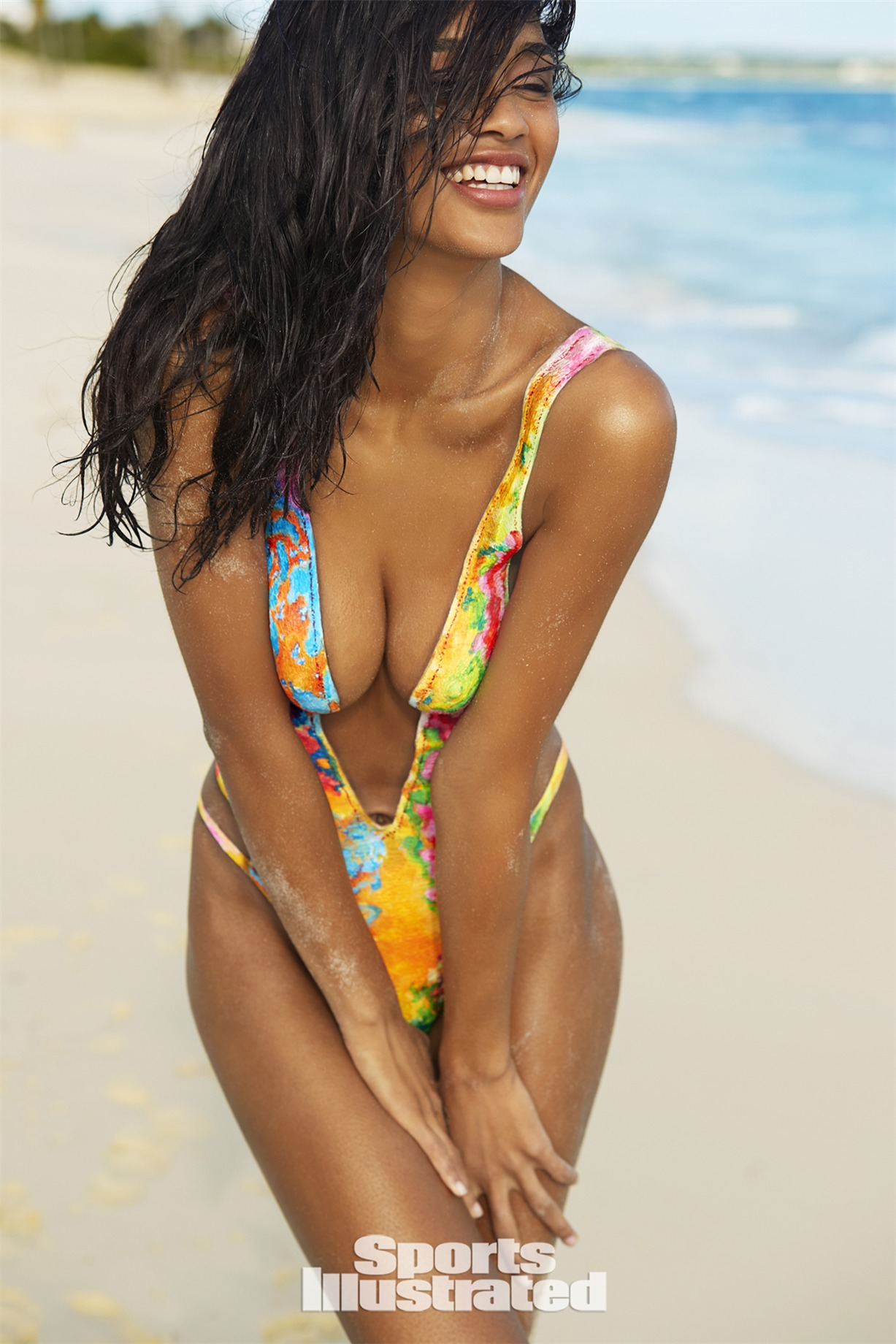 Lisa-Marie Jaftha / Лиза-Мари Джафта в боди-арт-купальнике - Sports Illustrated Swimsuit 2017 issue / in Anguilla by Josephine Clough