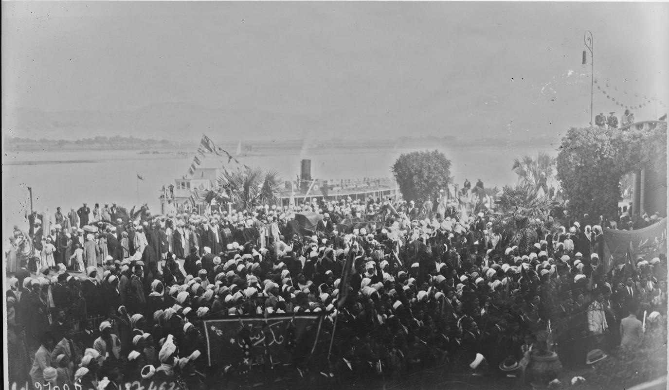 Прибытие гостей египетского правительства для повторного открытия гробницы Тутанхамона