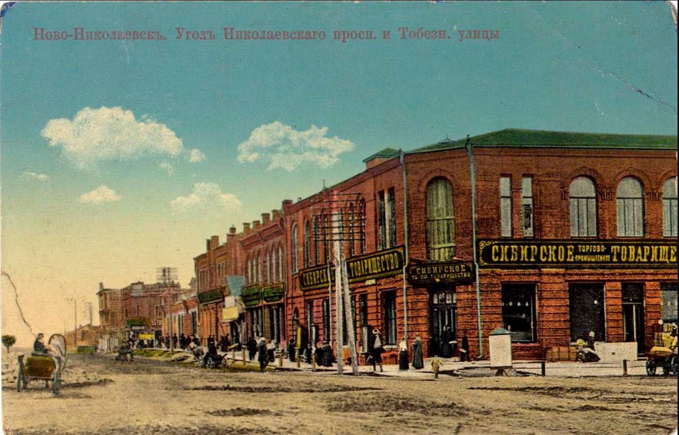 Угол Николаевского проспекта и улицы Тобизеновской