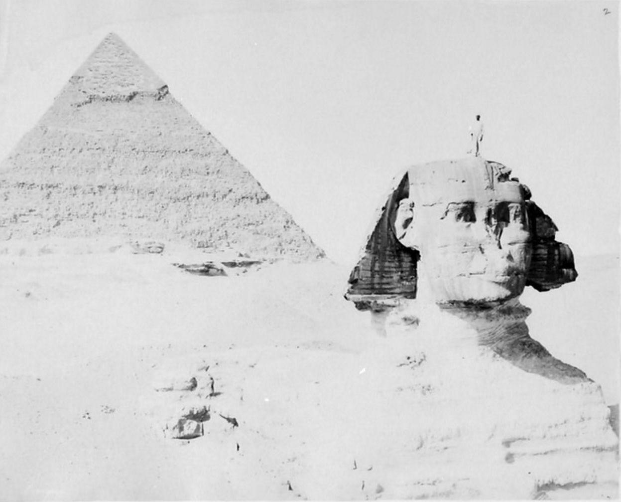 Гиза. Сфинкс и пирамида Хефрена. 1893