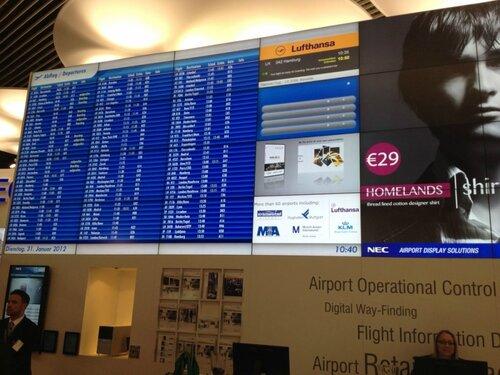 Кишинёвский аэропорт оборудован современным видеопанно