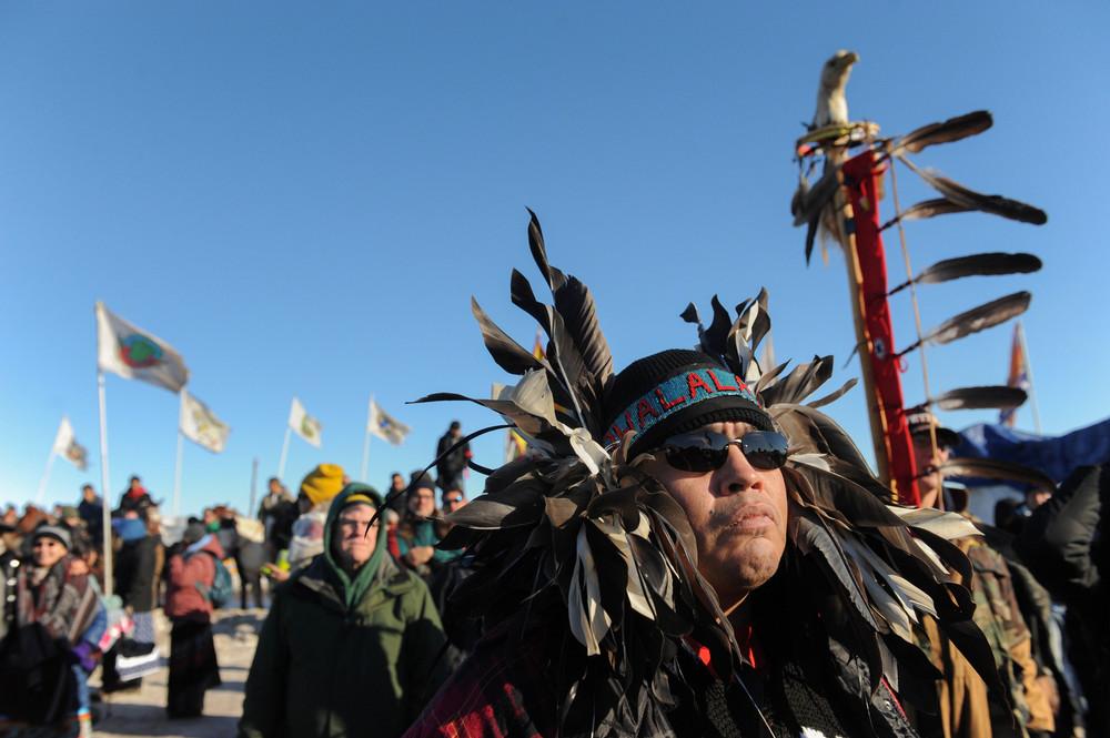 Коренные американцы протестуют против строительство нефтепровода