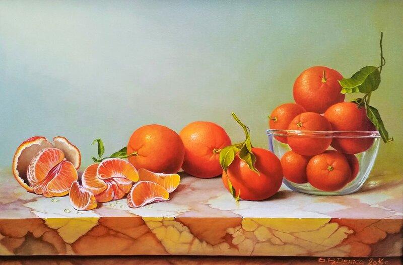 Натюрморт с апельсинами ...