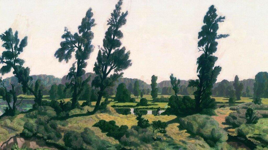 Раннее утро. 1914Холст, масло. 90 x 148 смГосударственная Третьяковская галерея, Москва