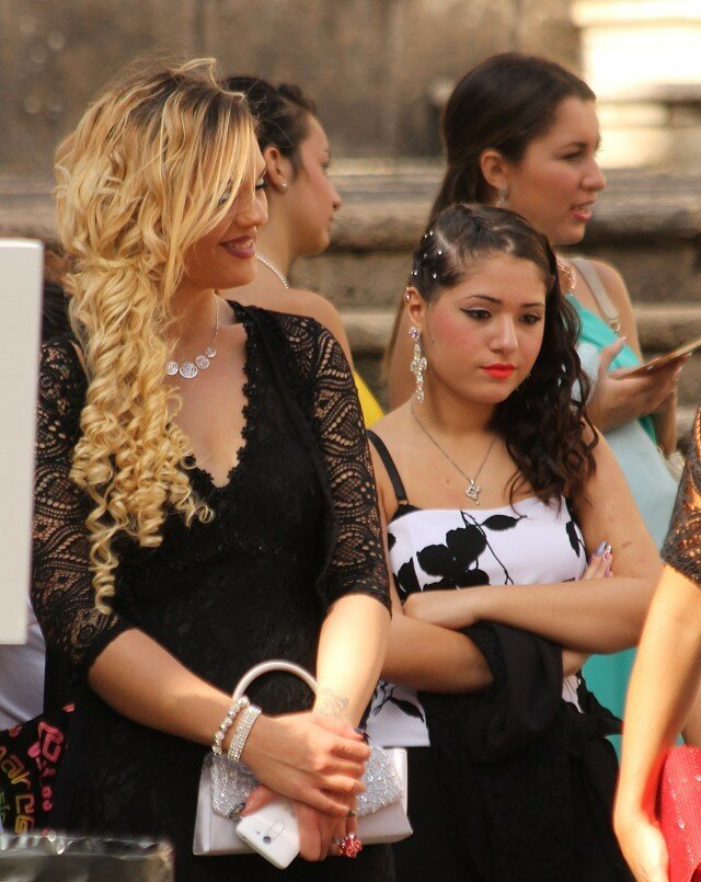 Wedding in Catania. Sicilian women