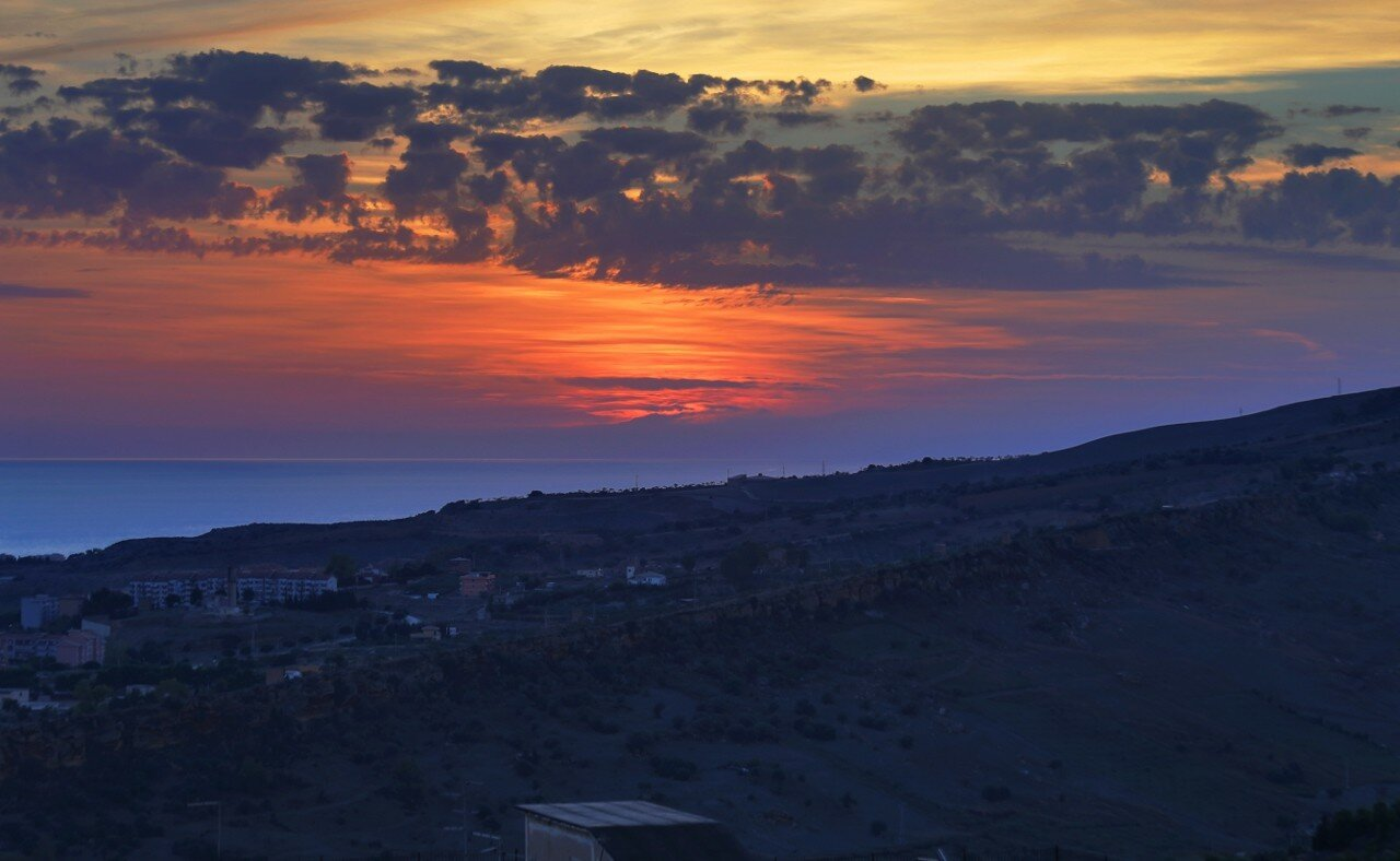 Sunset in Agrigento