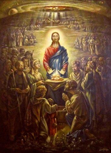 Дмитрий Васильевич Близнюк (род. в 1935 году). Насыщение пяти тысяч. Евангелие от Иоанна, 6: 8-13.