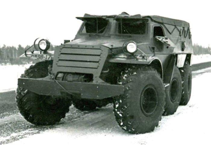 Экспериментальный броневик БТР-Э152В. НАМИ С-3 В 1962 году на базе легкового автомобиля