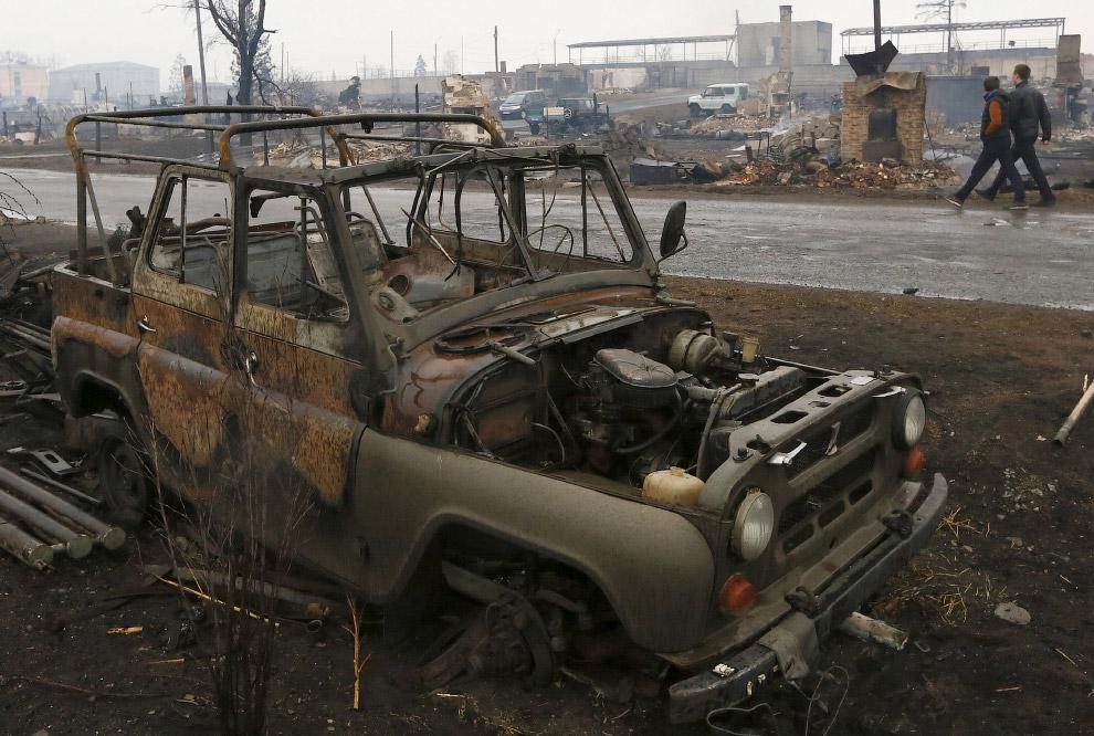 18. Поселок Шира, Хакасия, 13 апреля 2015. (Фото Ilya Naymushin   Reuters):