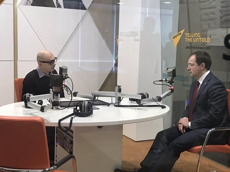 Владимир Мединский о планах РВИО на 2017 год в интервью Армену Гаспаряну