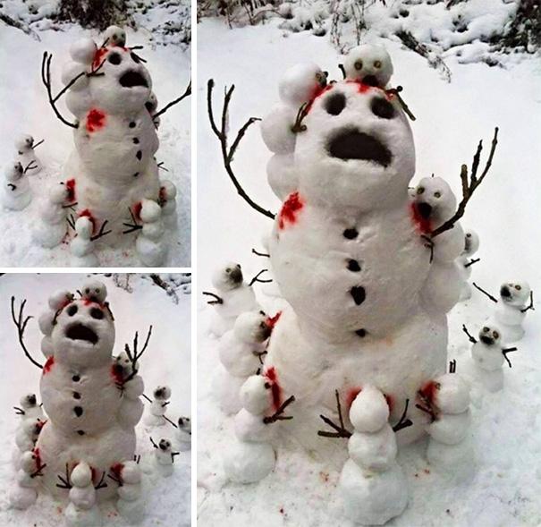 Прикольных снеговиков пост