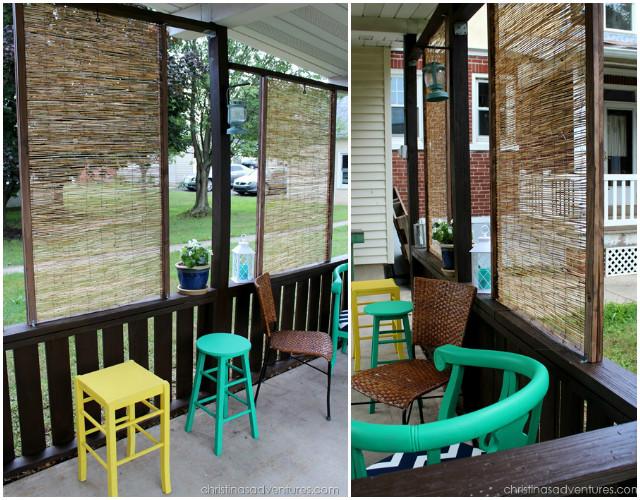 Tutorial: Christinas Adventures  Thisdrapingpatio decor makes outdoor privacy and shade eas