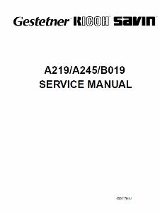 service - Инструкции (Service Manual, UM, PC) фирмы Ricoh - Страница 2 0_1b1e11_6d470c33_orig