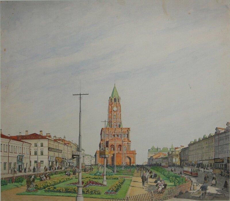 На Малой Сухаревской площади. 1926 год. В.К. Коленда (1872-1945)