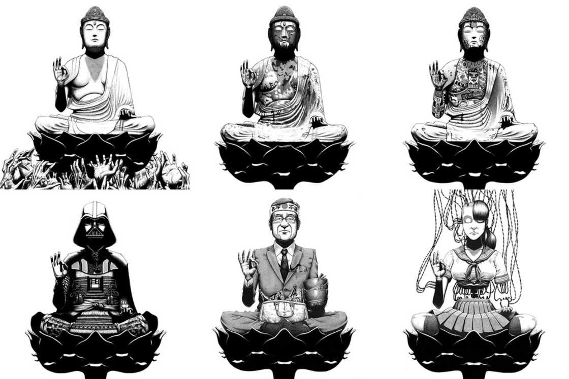 Modern Buddhas - Les illustrations au stylo bille d'Andrew Browne