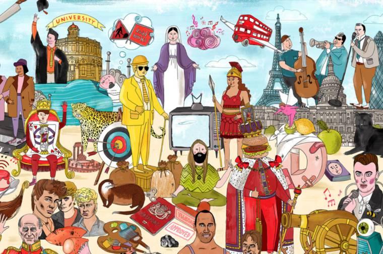 Brandscape - Trouverez-vous les 60 marques celebres cachees dans ce dessin ?