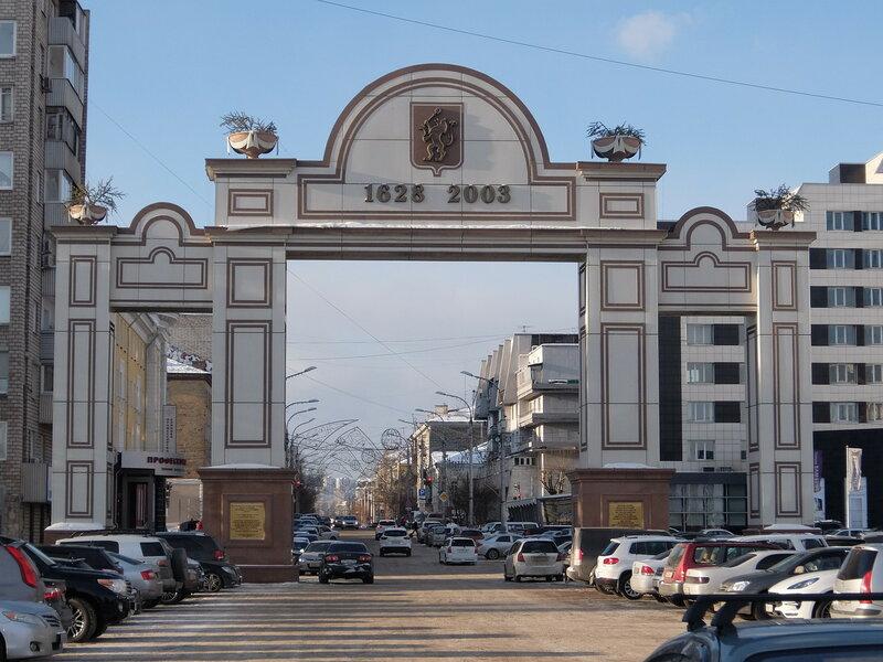Красноярск - Триумфальная арка в честь 375-летия города
