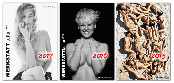 Черно-белый эротический календарь 2017 WERKSTATTkultur